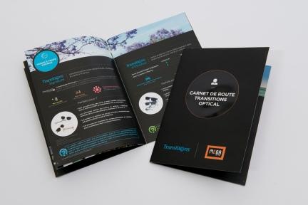 brochure 5 versions avec pages intérieurs différentes